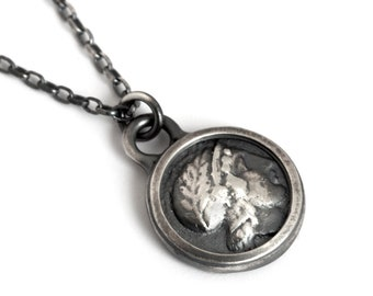 Caesar Coin Medallion Necklace Sterling Silver for Men or Women
