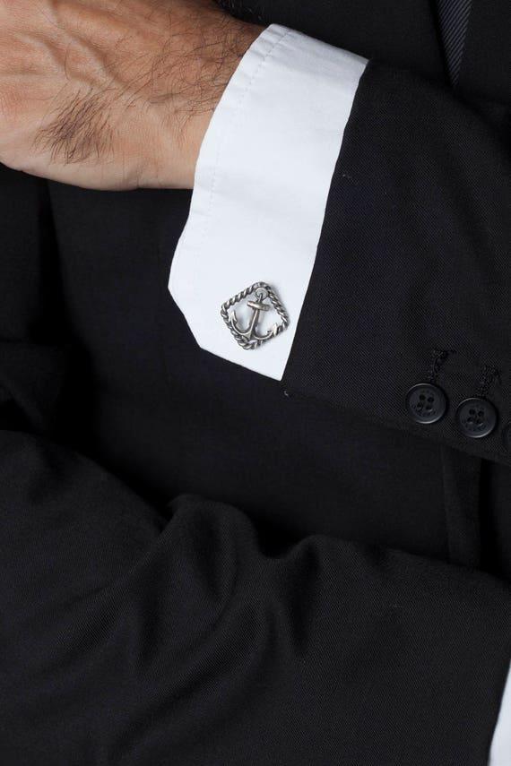 Vatertagsgeschenk nautische Manschettenknöpfe-Sterlingsilber | Etsy