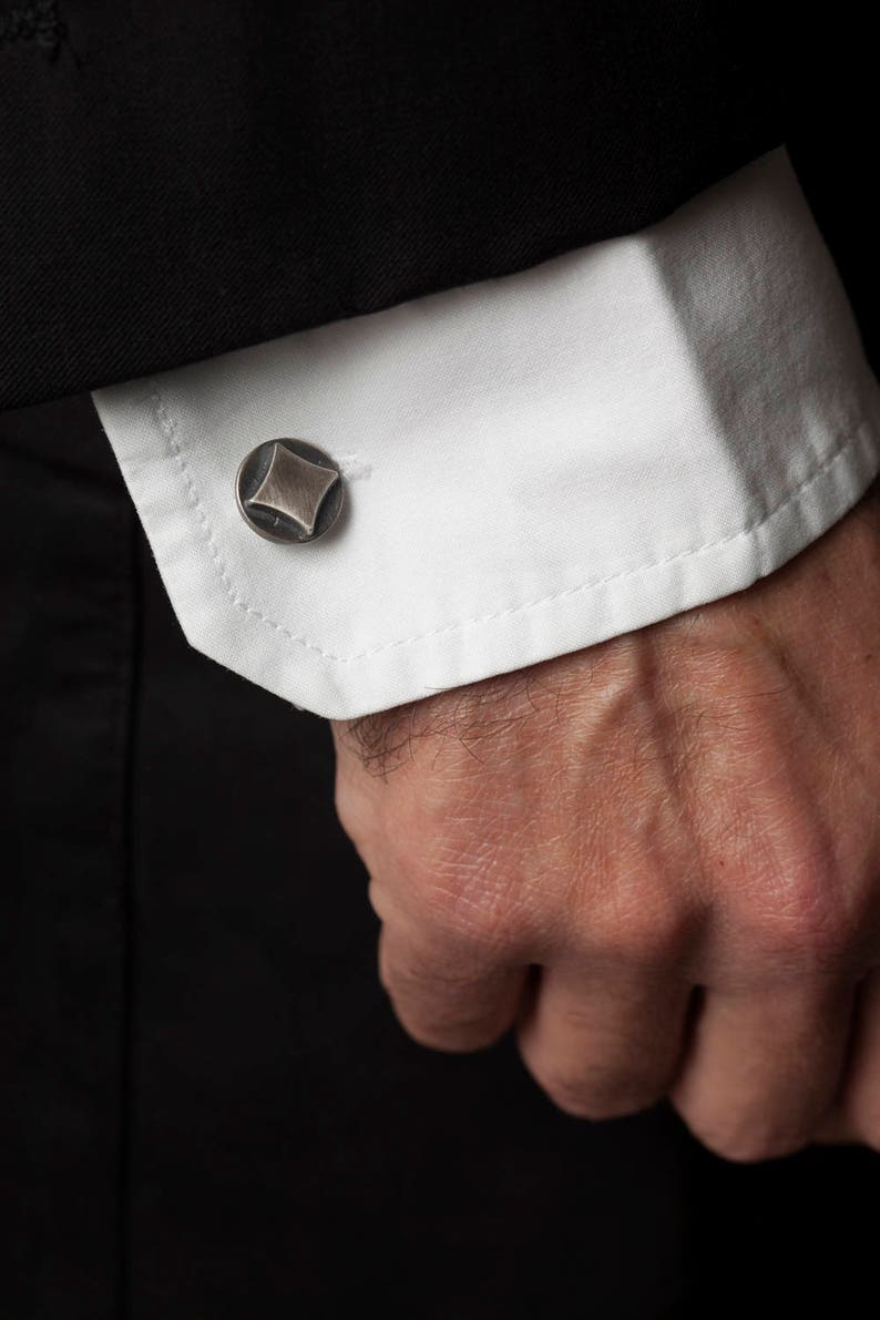 Playing Card Suit Cufflinks in Sterling Silver \u2013 Great Poker Jewelry Gift for Men fathers day gift