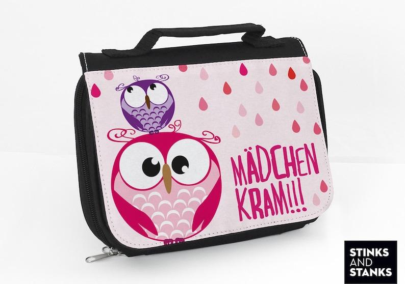 34884f23a3be Toiletry bag girl pink, cute washbag owl, girl stuff, wash bag for hanging,  toiletry bag women, cosmetic bag woman, owl, gift for girl