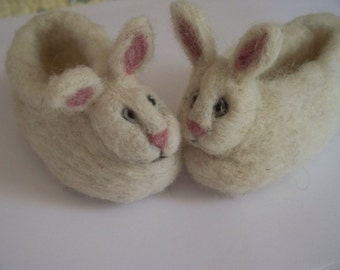 Soft wool Baby Bunny Slippers