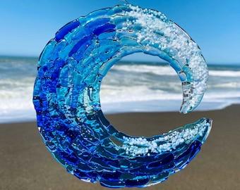Ocean inspired ring dish  Beach wedding gift idea  Sea glass art  Beach glass art  Tide pool  Ocean art  Beach decor  Seashell beach