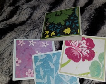 30 assorted floral mini notecards