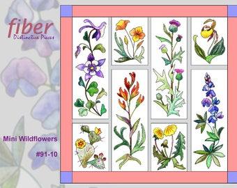 Hand Applique Kit Applique Quilt Kit Iris Quilt Kit Iris Bulb Susan DuLaney Kit Flower Quilt Design Distinctive Pieces Kit Q99-25K