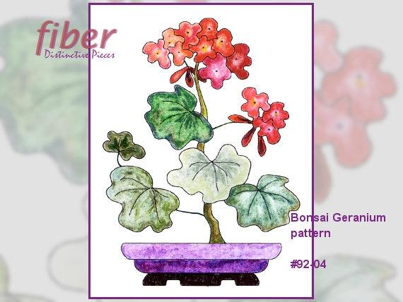 Applique Quilt Block Pattern Bonsai Geranium Oriental Etsy