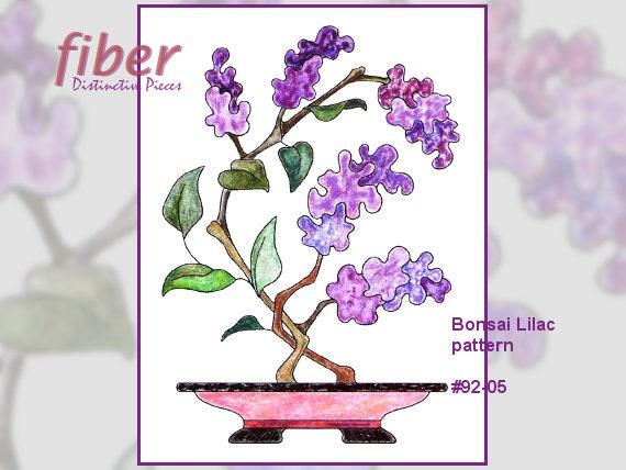 Applique Quilt Block Pattern Bonsai Lilac Asian Inspired Etsy