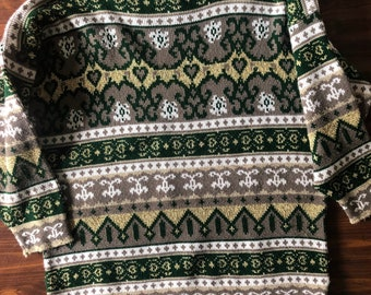 Vintage 80s Diana Marco Abstract Sweater