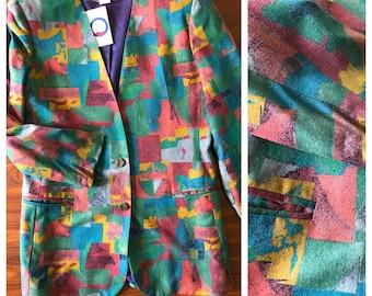 Vintage 90s Abstract Blazer