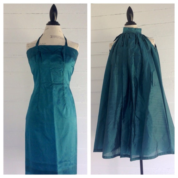 Vintage 1960s Cocktail Dress with Cape