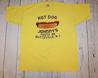 575ca98c1 Johnny's Hot Dog Buttzville New Jersey Vintage T-shirt