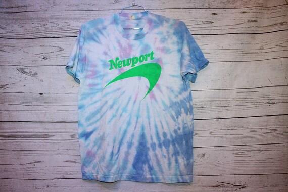 Newport Cigarettes Vintage Tie Dye T-Shirt