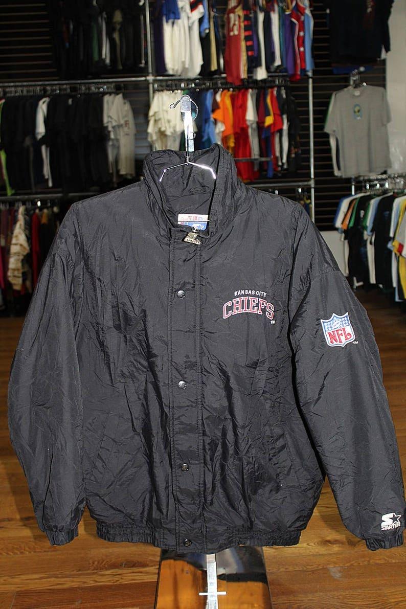 0d2f031a Vintage Kansas City Chiefs Starter Parka Jacket With Back Patch Large
