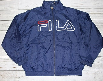 Vintage Fila Hooded Windbreaker Jacket