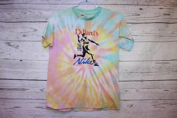 Nike Dillards 1988 Run Vintage Tie Dye T-Shirt