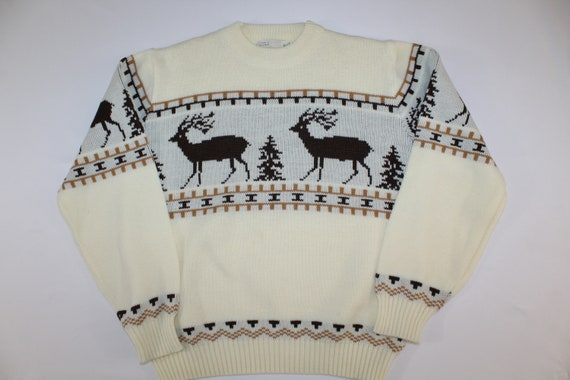 Reindeer Vintage Retro Unisex Mens Womens 1980s Ac