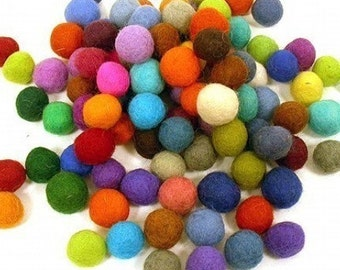 Wholesale 50 count 20mm Felted balls by YUMMI