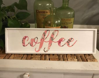 Floral Coffee Sign
