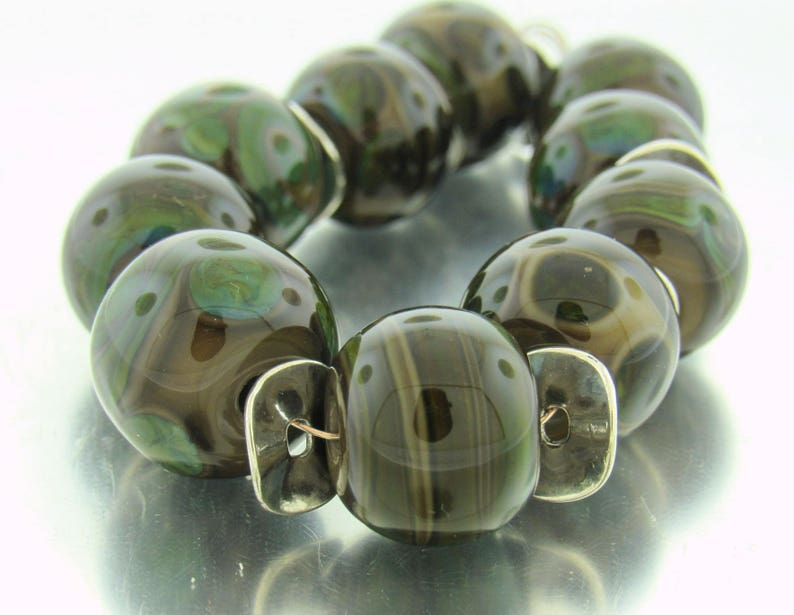 Handmade Lampwork Beads  For Unique  Statement Earring Bead Supplies Organic Beads Artisan Beads Unusual Beads--
