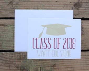 Graduation Thank You Cards Custom School Colors High Etsy