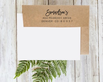 Last Name Wedding Return Address Stamp, Address Stamp, Custom Rubber Stamp, Personalized Stamp, Wedding and Save the Date Stamp Gift