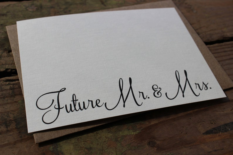 Engagement Thank You Cards with Envelopes  Wedding  Shower  Engagement and Mrs Future Mr