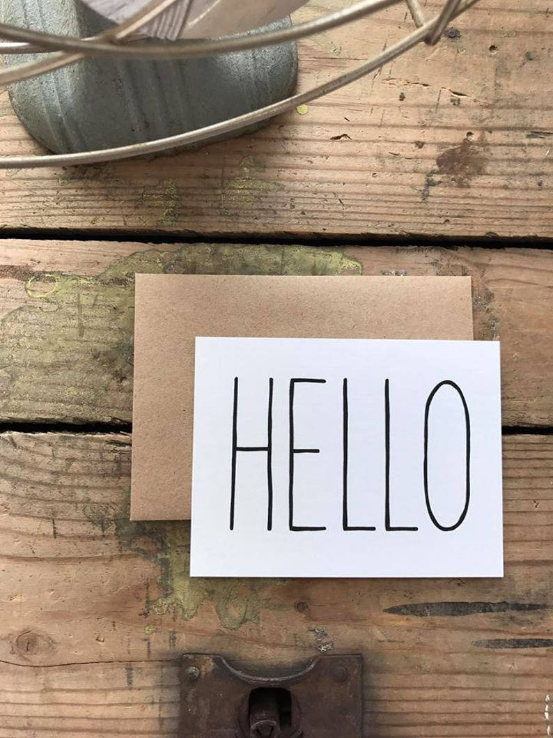 Hello Thank You Cards with Envelopes  Wedding  Shower  Engagement  Just Because  Anytime Cards  Snail Mail  Thinking of You