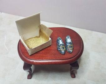 Dollhouse Miniature Vintage Shoes, 1/12 scale