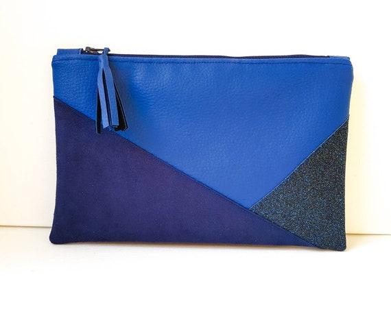 pochette main bleu sac electrique a pwap1