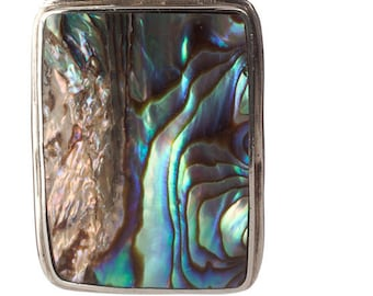 Abalone and Sterling Necklace and Pendant -wear together or separately