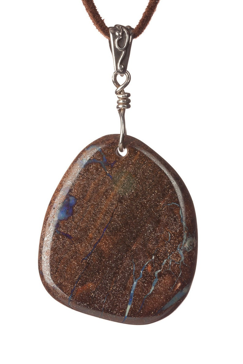 HUGE Opal in the Matrix and Sterling Silver  Free US shipping image 0