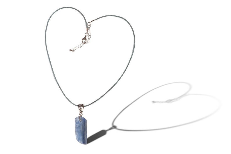 Blue Kyanite and Sterling Silver Pendant  Unlimited ENERGY  image 0
