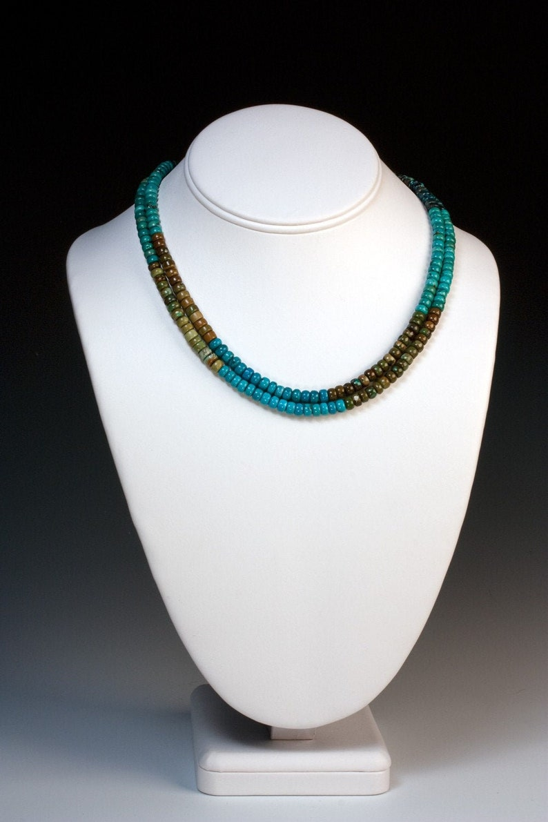 Turquoise Multi-Hued Double Strand  Worthy of a Goddess  image 0