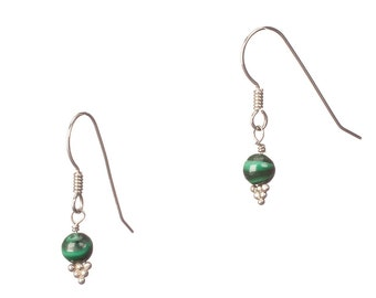 Malachite and Sterling Earrings - EMPOWERING
