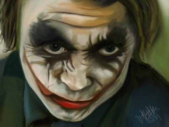 Fan Art Wall Art Joker Art Batman Joker Digital Painting Joker Art