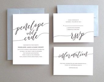 Unique Wedding Invitation, Printable Wedding Invitation, Elegant Wedding Invitations, Simple Wedding Invitation, Modern Wedding Invitation