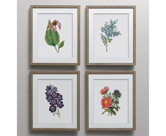 Botanical Print Set Unique Botanical Prints Home Decor