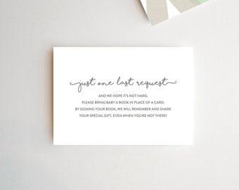 Simple Book Request Card, Please Bring A Book Instead Of A Card, Book Request Baby Shower, Book Request, Baby Shower Book Request