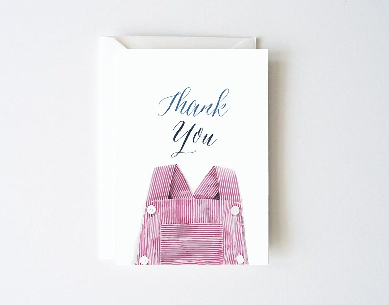Baby Shower Thank You Cards Girl Baby Shower Thank You Cards Etsy