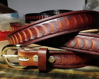 Handmade custom dark brown leather Mens or Womens belt, leather dress belt, high end dark brown leather belt