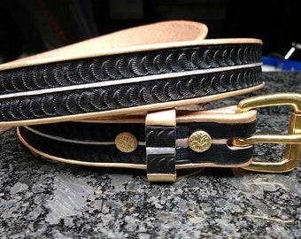 Handmade leather belt, Mens Womens leather belt,black gold silver custom leather belt, dress belt
