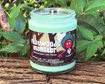 Flatwoods Monster Candle - Braxton County West Virginia - Cryptid Candle