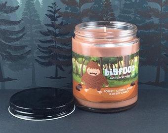 Bigfoot Candle - Sasquatch - Cryptid Candle