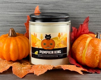 Pumpkin King Soy Candle - Sweet Pumpkin and Spice Candle - Enoch