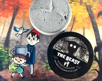 The Beast Whipped Sugar Scrub - Smoke and Mirrors with Activated Charcoal