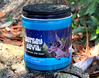 Jersey Devil Candle - Leeds Devil of Pine Barrens, New Jersey - Cryptid Candle