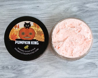Pumpkin King Whipped Sugar Scrub - Pumpkin Cake Scented Sugar Scrub