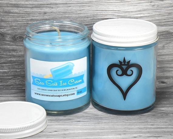 Kingdom Hearts Candle   Sea Salt And Vanilla Soy Candle by Etsy