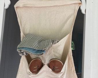 Bath House Canvas Storage Bag Hanging Locker #817 1920s 1930s Beach House Storage Organization