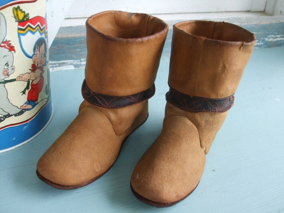 Boots Leather Child's Leather Cowboy Boots 1930s … - image 2