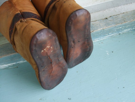 Boots Leather Child's Leather Cowboy Boots 1930s … - image 4